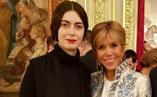 Jeanne Vicerial et Brigitte Macron