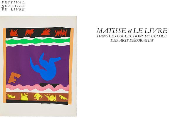 Image : Henri Matisse, Jazz, Planche XX, Le tobogan © Succession H. Matisse. Conception graphique : Nora Duprat & Aglaë Miguel, diplômées EnsAD 2018.