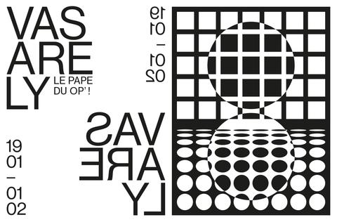 Vasarely, le Pape du Op'! - exposition à l'EnsAD