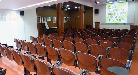 Les amphithéâtres Rodin et Bachelier,  120m², capacité par amphithéâtre :  180 personnes debout,  120 personnes assises