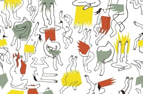 Papier peint SOLSTICE design Lou Dervieux et Claire Meinhard