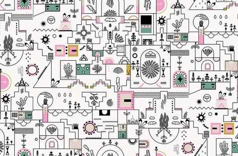 Papier peint ATCHAK design Tiphaine Buhot-Launay et Selim Hassan